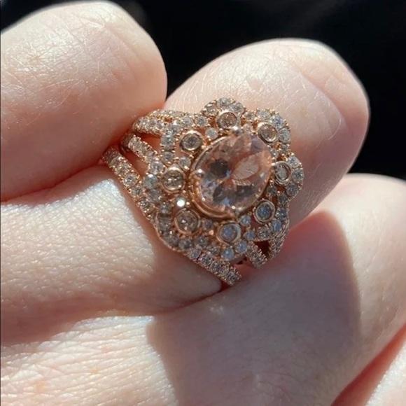 Kay Jewelers Jewelry Rose Gold Morganite And Diamond Engagement Ring Poshmark